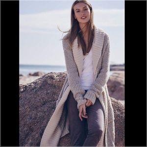 Anthropologie Sleeping on Snow long hooded sweater